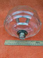 Antique Cut 12 Faceted Glass Oil Lamp Font / Fount Hicks & Sons Bayonet Collar (6 of 12)