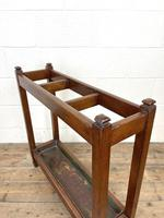 Antique Mahogany Three Section Stick Stand (7 of 8)