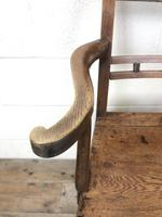 Antique 19th Century Welsh Oak Farmhouse Chair (4 of 10)