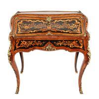 19thc Louis XV Style Marquetry Bureau en Pente (9 of 14)