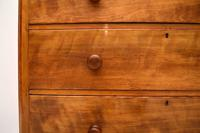 Large Antique Victorian Satinwood Chest of Drawers (7 of 16)