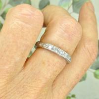 1920s Art Deco platinum diamond wedding band ~ full eternity ring 0.69ct ~ Size P 1/2 / 7.75 (7 of 9)