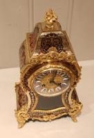 Small French Tortoiseshell and Brass inlay Mantel Clock (6 of 12)