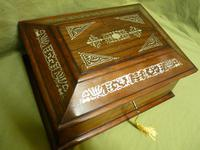 Large Inlaid Rosewood Jewellery / Table Box c.1835 (7 of 12)