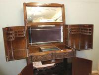 Antique Impressive Burr Oak Cocktail Drinks Cabinet (8 of 16)