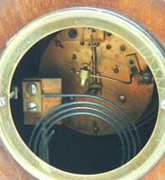 Fine Edwardian Mahogany Balloon Clock Brass Inlay Striking Mantel Clock (9 of 9)
