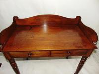 Georgian Mahogany Galleried Side Table (2 of 8)