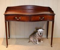 Mahogany Serpentine Front Side Table (8 of 10)