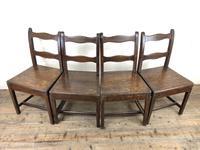 Set of Four 19th Century Oak Farmhouse Chairs (M-189) (16 of 17)