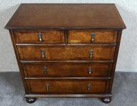 Reproduction Walnut Chest of Drawers In The Style of Queen Anne (6 of 10)