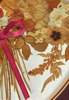 19th Century Victorian Floral Still Life of Pressed Flowers Picture (7 of 12)