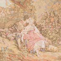 Antique Tapestry Panel, French, Framed, Needlepoint, Decorative, Edwardian, 1910 (5 of 10)