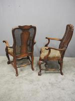 Pair of Queen Anne Style Walnut Armchairs (7 of 17)