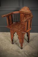 Pair of Damascus Syrian Moorish Inlaid Armchairs (13 of 17)