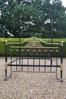 Antique King Size 5ft Half Tester Bedstead by R W Winfield. Bed Restored in your Colour (6 of 19)