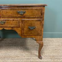 Spectacular 18th Century Figured Walnut Antique Lowboy / Side Table (3 of 5)