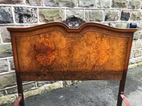 Antique Burr Walnut Double Bed (5 of 8)