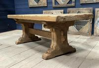 Superb Very Rustic French Oak Bleached Oak Farmhouse Dining Table (9 of 32)