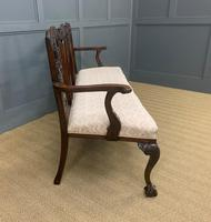 Mahogany Chippendale Style Triple Chair Back Settee (9 of 18)