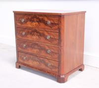 19th Century Continental Flame Mahogany Chest of Drawers (6 of 12)