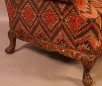 Very Good Pair of Wing Armchairs in the style of George II (7 of 15)