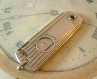 Vintage Pocket Watch Chain Fob 1930s Large Silver Chrome Valet Cigar Cutter Fob (11 of 12)