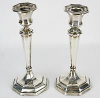1912-1913 Birmingham William Hutton & Sons Silver Candlesticks (9 of 10)