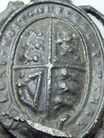 Antique Victorian Lead British Royal Coat Arms Plaque (7 of 12)