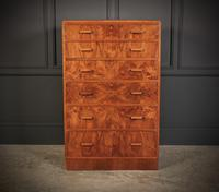 Art Deco Figured Walnut Chest by Maple & Co. (4 of 13)
