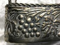 Antique French Art Nouveau Silver Plate Champagne Basket Ice Cooler (10 of 10)