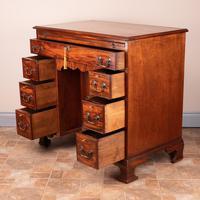 Mahogany Kneehole Desk With Brushing Slide (12 of 17)