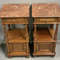Pair of French Walnut Bedside Cabinets (6 of 8)