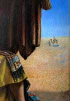 Beautiful Original 19thc Portrait Oil Painting of Smoking Arabian Gentleman (8 of 13)