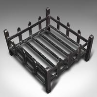 Antique Fireplace Grate, English, Cast Iron, Fire Basket, Late Victorian c.1900 (8 of 10)