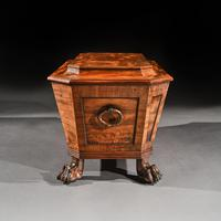 Regency Mahogany Wine Cooler Cellarette of Sarcophagus Form (9 of 10)