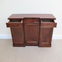 Mahogany Breakfront Side Cabinet (5 of 7)