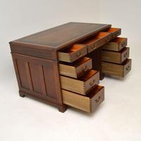 Georgian Style Mahogany Leather Top Pedestal Desk (10 of 12)