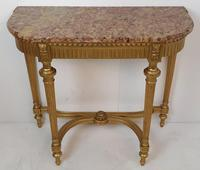 19th Century Gilt Marble Topped Console Table