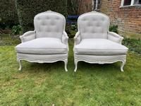 Pair of Very Large Bergere Armchairs (3 of 8)