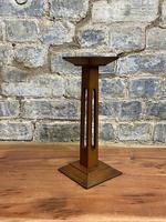 1920s  Oak Pedestal Display Stand (3 of 5)