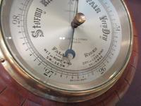 Antique Polished Mahogany Negretti & Zambra Barometer (6 of 7)