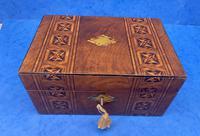 Victorian Mahogany Box with Tunbridge Ware Bands (10 of 15)