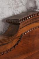 Impressive and beautiful large king size carved walnut bed & matching bedsides (12 of 13)