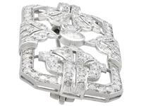 4.53ct Diamond & Platinum Brooch - Art Deco - French c.1930 (4 of 9)