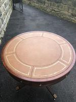 Mahogany Leather Top Drum Table (9 of 9)