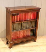 Edwardian Inlaid Mahogany Open Bookcase (7 of 8)