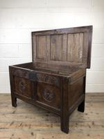 Small 18th Century Carved Oak Coffer (11 of 13)