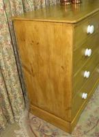 Victorian Stripped Pine Chest with White Porcelain Knobs - Carriage Paid  Most Areas (3 of 7)