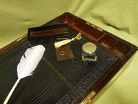 Quality Fully Brass Bound Rosewood Writing Box. Many Features. C1875 (8 of 16)