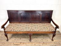 Antique George III Oak Settle Bench (2 of 10)